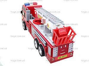 Детская машина пожарка с инерционной лестницей, SH-8822, купить