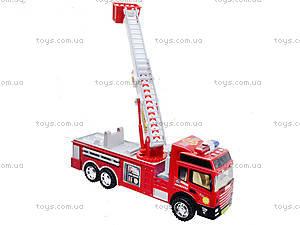 Детская машина пожарка с инерционной лестницей, SH-8822, фото
