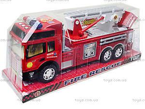 Детская машина пожарка с инерционной лестницей, SH-8822, цена