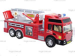 Детская машина пожарка с инерционной лестницей, SH-8822, игрушки