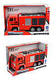 Инерционное пожарное авто, 89002A-6