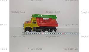 Пожарная машина, с лестницей,