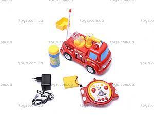 Пожарная машина с мыльными пузырями, р/у, JY639R