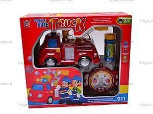 Пожарная машинка с мыльными пузырями, 639R, цена
