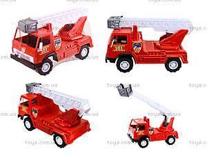 Игрушечная пожарная машина с лестницей, 027