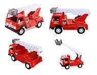Игрушечная пожарная машина с лестницей, 027, тойс