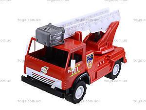 Игрушечная пожарная машина с лестницей, 027, игрушки