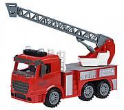 Пожарная машина с лестницей со светом и звуком , 98-616AUt, фото