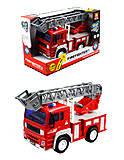 Пожарная машина инерционная с эффектами, WY550B, фото