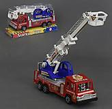 Пожарная машина инерционная, в слюде, 305, фото