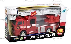 Пожарная машинка, инерционная, JL81016