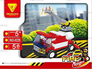 Пожарные спасатели «Пожарная машина» конструктор, 4226