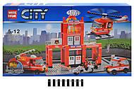 Пожарный участок серии «СITY», 89008, фото