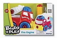 Пожарная машина «Строй и играй», K11935, фото