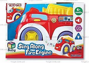 Музыкальная пожарная машинка, K12841