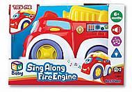Музыкальная пожарная машинка, K12841, игрушки
