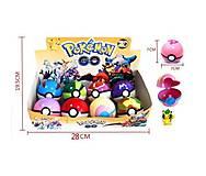 Покебол с фигуркой Pokemon, 8 штук, BT-PG-0002, купить