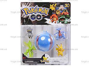 Покемоны и покебол Pokemon GO, 4 фигурки, BT-PG-0005, фото