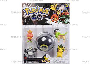 Покемоны и покебол Pokemon GO, 4 фигурки, BT-PG-0005, отзывы