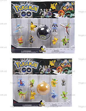 Покемоны и покебол Pokemon GO, 8 фигурок, BT-PG-0007