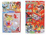 Фигурки покемонов с покеболом Pokemon, 3 фигурки, BT-PG-0010, купить