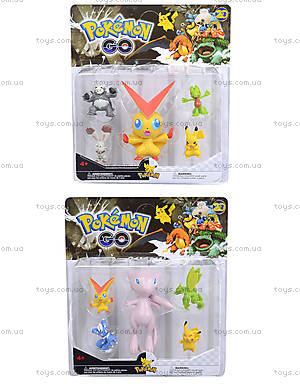 Игрушечные покемоны Pokemon GO, 5 фигурок, BT-PG-0006