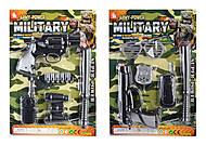Детский набор военного, с оружием, 2 вида, 10-11, купить игрушку