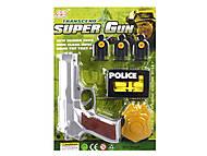 Полицейский набор с пистолетом и мишенями, 3025C(1635447), набор
