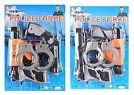 Полицейский набор 2 вида, с наручниками, оружием, 1414-10, отзывы