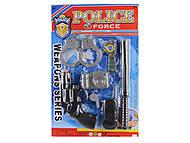 Полицейский набор (рация, оружие, дубинка), 2 вида, 27-8080-10, игрушка