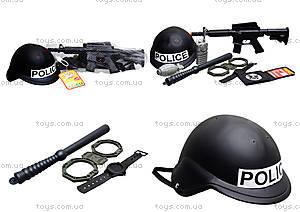 Детский полицейский набор с каской, 8805