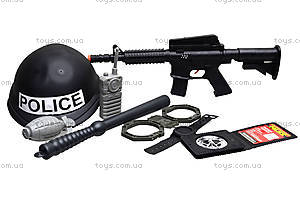 Детский полицейский набор с каской, 8805, магазин игрушек