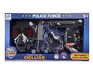 Полицейский набор с маской и аксессуарами, HSY-022