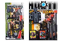 Полицейский набор (автомат, пистолет, 3 мишени, пули-стрелы), 8550-52, детские игрушки