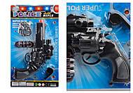Полицейский набор со свистком и значком, 6682, детские игрушки