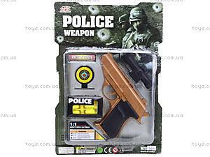 Полицейский набор «Пистолет с мишенью», 3041B, фото