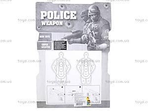 Полицейский набор «Пистолет с мишенью», 3041B, отзывы