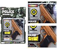 Полицейский набор «Пистолет с мишенью», 3041B, купить