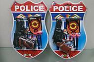 Полицейский набор с пистолетом на присосках, 22-1
