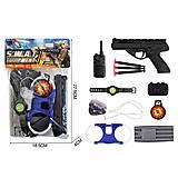 Полицейский набор (пистолет, камера, часы и др), 2019-86