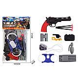 Полицейский набор (пистолет, наручники, бинокль и др), 2019-87, купить