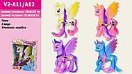 Пони-лошадка с цветными волосами 4 вида, V2-A11A12, купити
