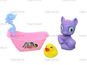 Игрушечный пони с ванной и уточкой, E3004B, фото