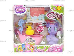 Игрушечный пони с ванной и уточкой, E3004B, игрушки