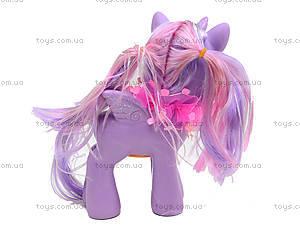 Детский пони с аксессуарами для волос, 0186-19, фото
