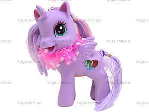 Детский пони с аксессуарами для волос, 0186-19, цена