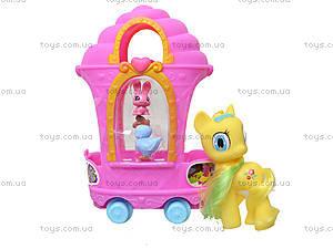 Детский пони с каретой и аксессуарами, E3007, игрушки