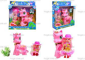 Игровой набор для девочек «Пони с куклой», HH8688-A2