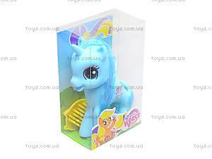 Детская игрушка «Пони с расческой», L-37-2, игрушки