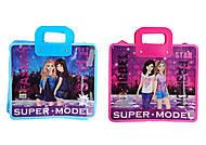Портфель-папка с пластиковыми ручками 30*34 см, для девочек, 7468, цена